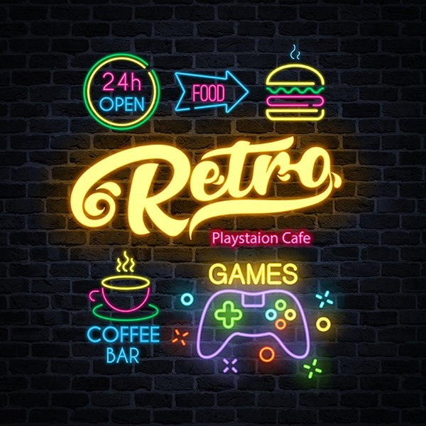 Retro Playstation Cafe